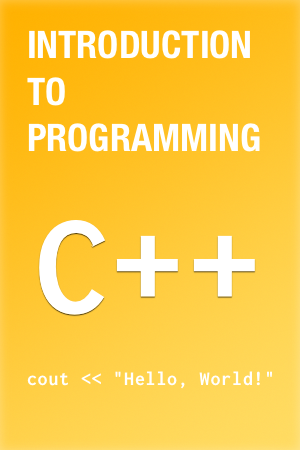 Intro to C++ book cover